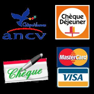 ANCV - chèque déjeuner - chèque - carte bancaire